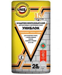 УНИБЛОК клей плиточный 25 кг (48шт/под)