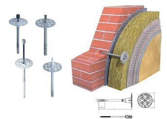 Дюбель для теплоизоляции (стальной гв.термоголовкой) IZL-T 10-180 (500шт), шт