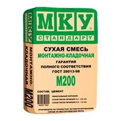 М200 МКУ сухая смесь монтажно-кладочная