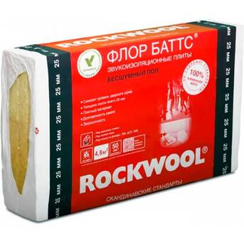 Rockwool (Роквул) ФЛОР БАТТС 25 мм