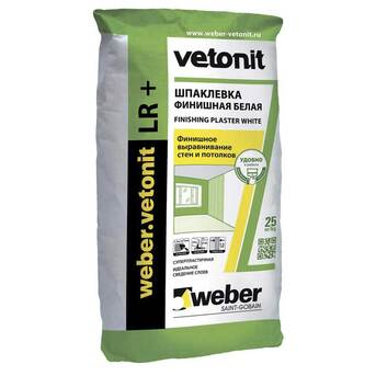 Шпатлевка Vetonit LR+ (Ветонит ЛР+) Weber (Вебер)