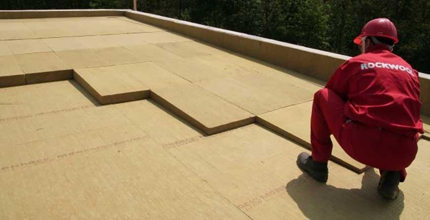 плоская крыша утепление роквул